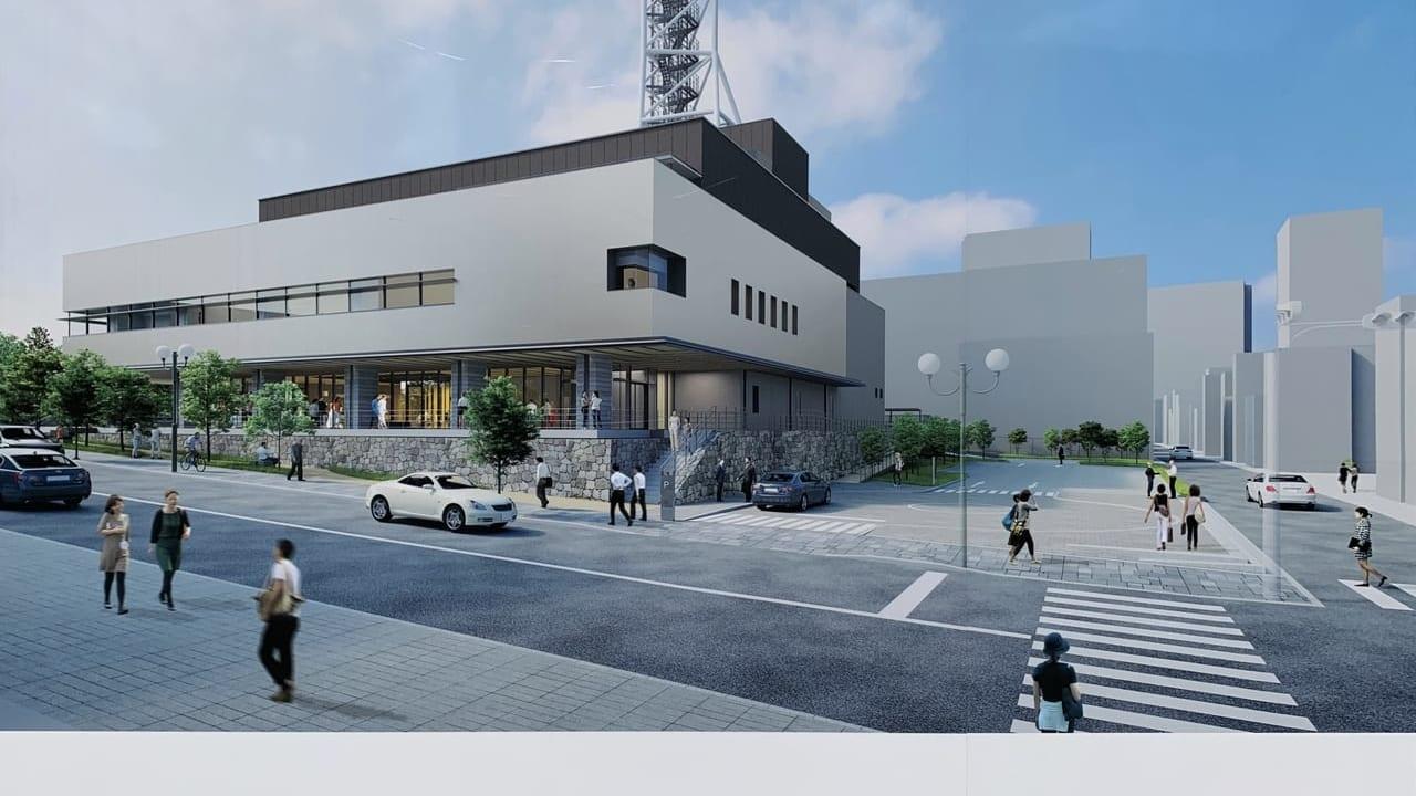 NHK新大津放送会館工事完成図
